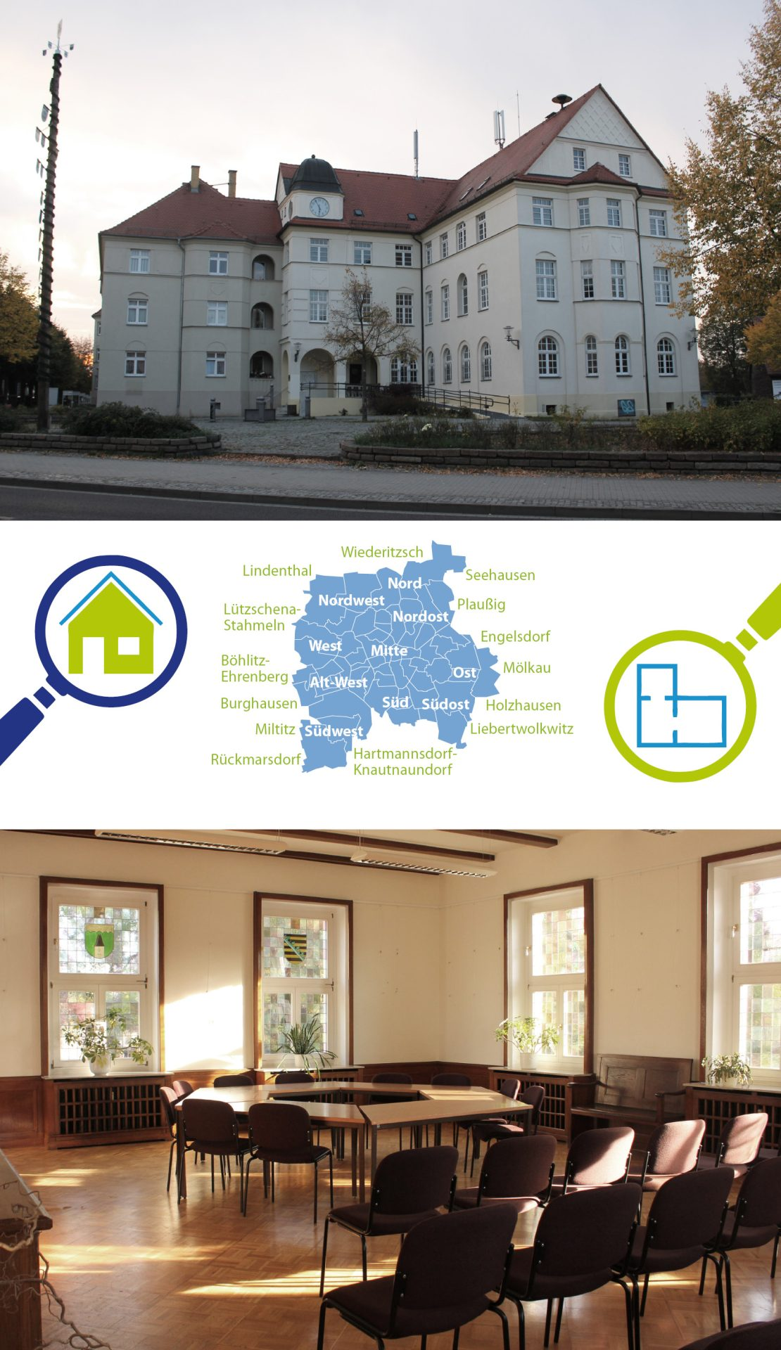 Review of the meeting venues of local committees of the City of Leipzig